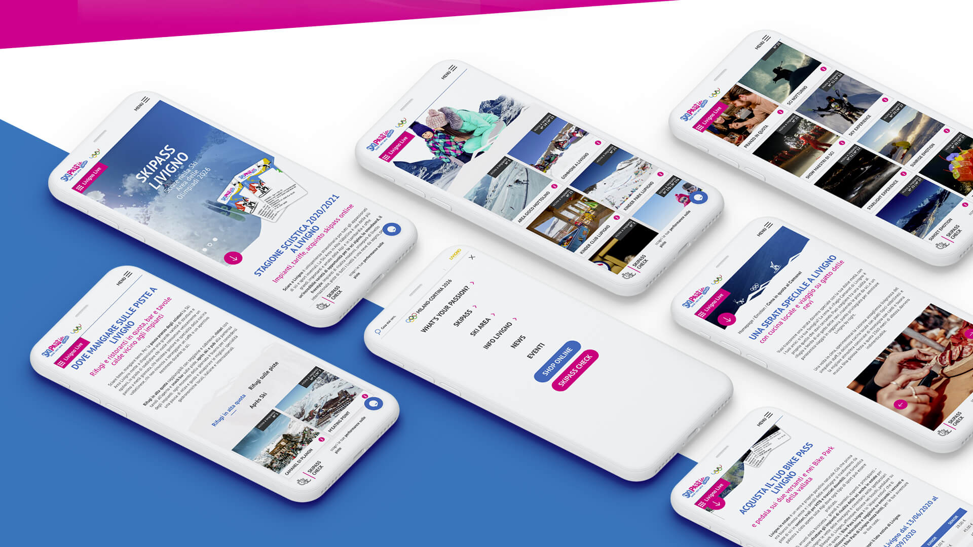 Design mobile first: grafica Webtek per Skipass Livigno