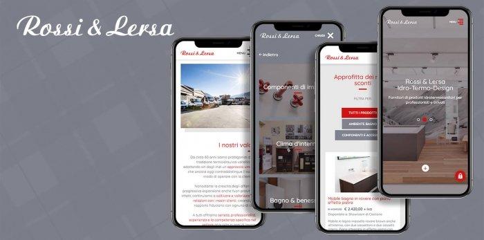 Sito mobile di Rossi e Lersa realizzato da Webtek