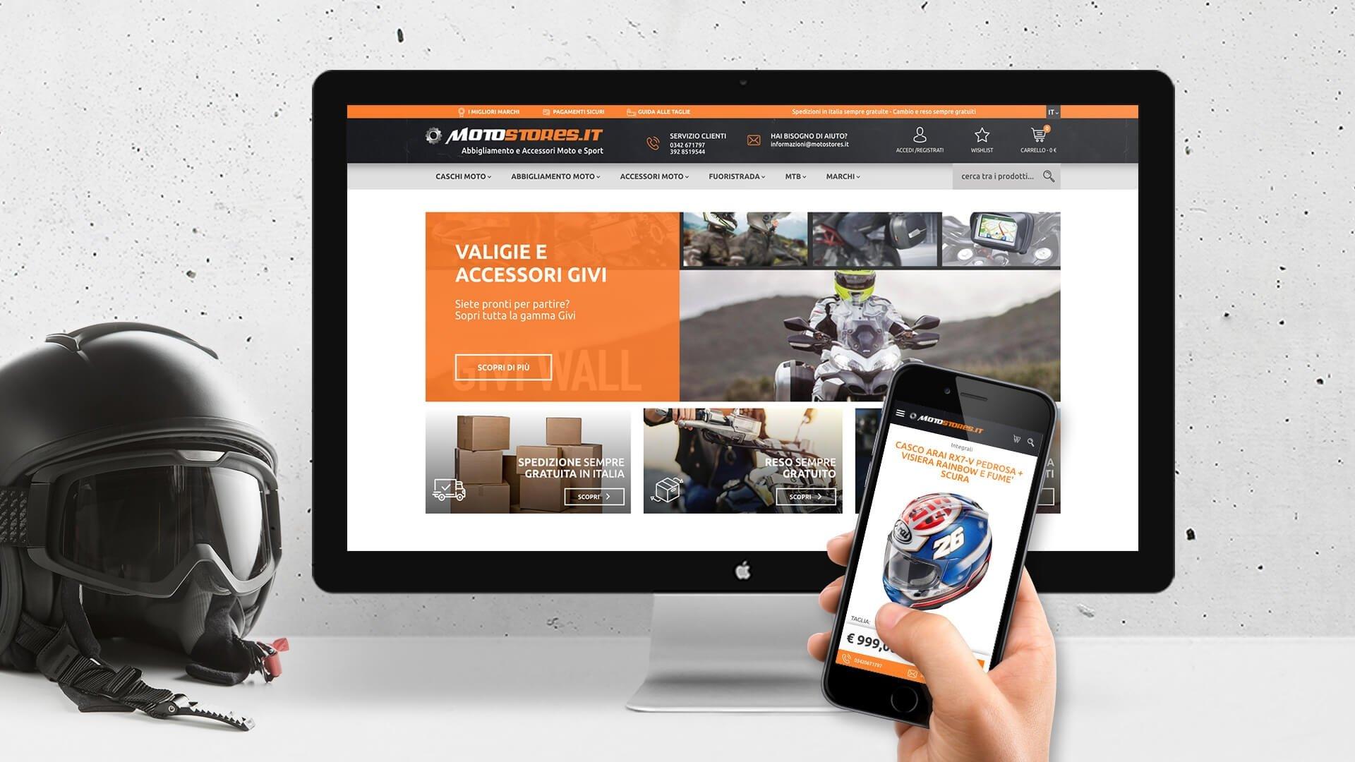 E-commerce e vendita online su Motostores