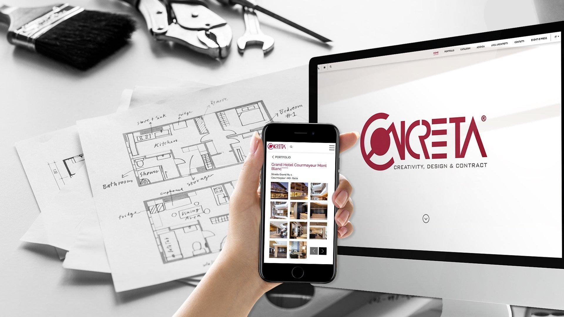Realizzazione sito web per Concreta