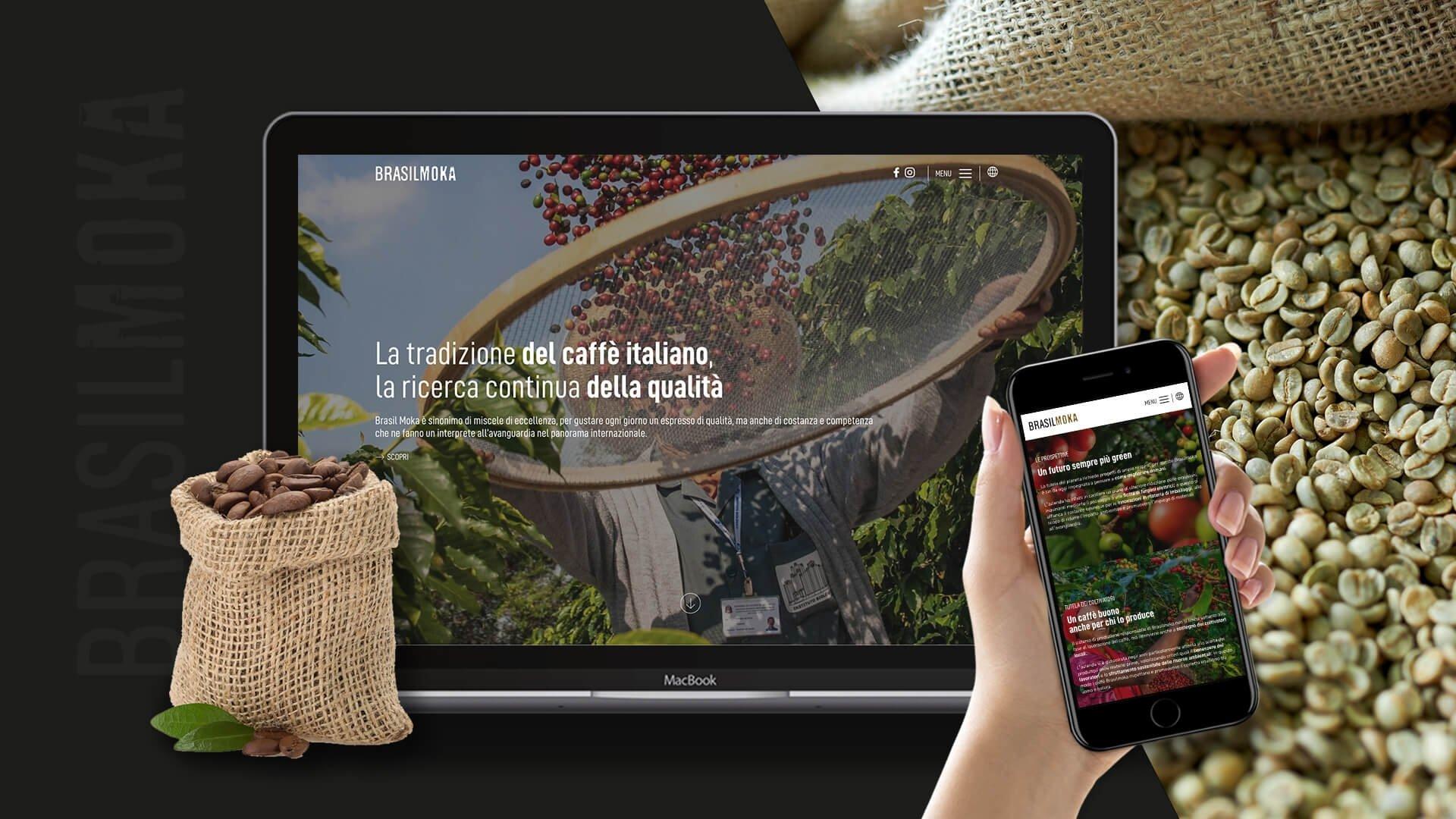 sito web di Brasilmoka by Webtek